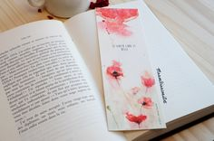 Bookmarks – poppy – woman accessory – watercolor illustration – Christmas gift, anniversary of ManonBianconiArt shop on Etsy rnrnSource by nnrankin Woman Illustration, Watercolor Illustration, Diy Bookmarks, Watercolour Tutorials, Galaxy, Watercolor Flowers, Book Worms, Illustrators, Poppies