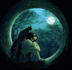 full moon by kokoszkaa