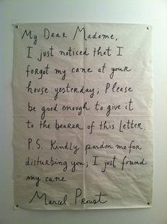 My Dear Madame Words Proust writing Maira Kalman