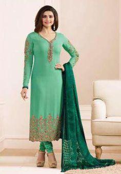 Vinay #Kaseesh Prachi Jannat Indian Georgette Salwar Kameez Suit 5551 #Green
