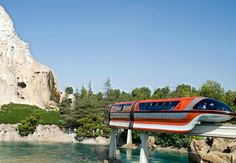 monorail set in nature