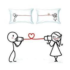 Boy Meets Girl Couple Pillow Cases - Love Whispers