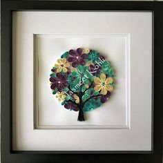 Family tree paper art//Quilled Family Tree // decorative wall