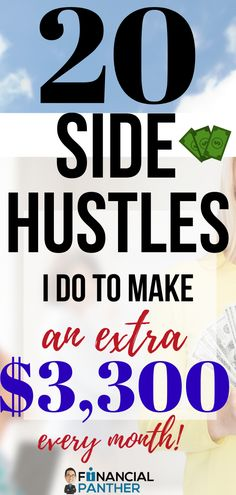 Are you ready to make some serious side money doing the things you love? Here are the TOP side hustle ideas Financial Panther uses to make money from home by doing the things they love! Pay off debt, go on vacation  become financially free all while doing the things you love to do! See how with these side gig ideas! #sidehustles #makingmoney #financialfreedom #personalfinance Cash From Home, Work From Home Jobs, Make Money From Home, Make Money Fast Online, Way To Make Money, How To Make, Money Tips, Money Saving Tips, Sharing Economy