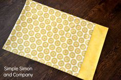 Simple Simon & Company: A Five Minute Pillowcase tutorial - perfect for first sewing project, Lila:)