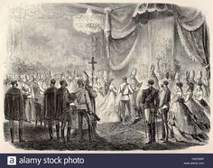 The christening of Archduchess Marie Valerie, 1868. Credits on the image