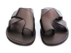 4064b7ffb37 SALE ! Leather Sandals BROOKLYN Men s Shoes Jesus Jerusalem Strappy Flip  Flops Flats Slides Slippers Biblical