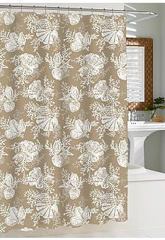 Kassatex Cortina Shells Shower Curtain