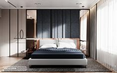 We continue to share with you the project Harmonious and very . Modern Luxury Bedroom, Modern Bedroom Design, Contemporary Bedroom, Luxurious Bedrooms, Bed Design, Study Interior Design, Residential Interior Design, Luxury Interior Design, Room Decor Bedroom