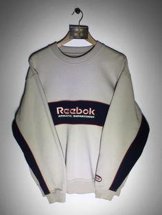 Reebok sweatshirt Size Small (but Fits Oversized) £32 Website➡️ www.retroreflex.uk #reebok #vintage #oldschool #retro #truevintage