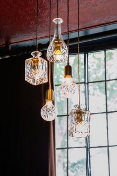 l id e d co du dimanche des luminaires avec des carafes en cristal carafe. Black Bedroom Furniture Sets. Home Design Ideas