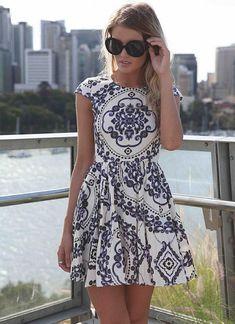 Multi Day Dress - Paisley Print Sleeveless Dress with | UsTrendy