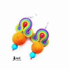 Rainbow soutache. Colorful earrings soutache  by MrOsOutache