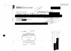 $ 500,000 cheque de Videgaray no fue cobrado durante 10 meses.  Fuente: Contraloría sitio web de México a través de Bloomberg