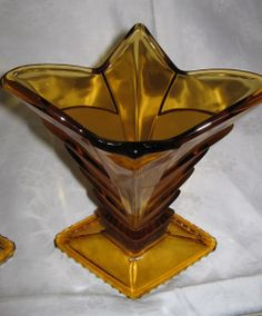 Coloured Art Deco Glass