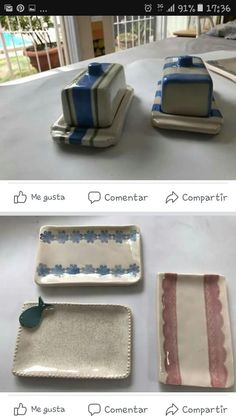 Clay Projects, Butter Dish, Clay Art, Dishes, Log Projects, Recipes, Ceramic Art, Cement, Fonts