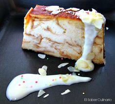 ¡Espectacular!: pudin casero de leche merengada con salsa de chocolate blanco