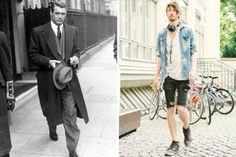 Was ist passiert? Links Cary Grant 1946 in London, rechts ein laut…