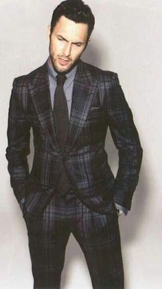 Tom Ford suit, blue tartan plaid, hot model guy New Hip Hop Beats Uploaded EVERY SINGLE DAY http://www.kidDyno.com
