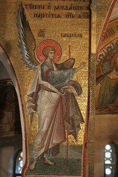 Byzantine Icons, Byzantine Art, Religious Icons, Religious Art, Medieval Art, Renaissance Art, Archangel Gabriel, Roman Art, Orthodox Icons