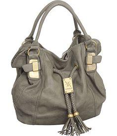 "Purse Boutique: Grey Oversized ""Savitha"" Hobo by Vitalio Vera Handbags, Purses"