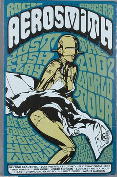 Collection of 4 Aerosmith Concert Posters