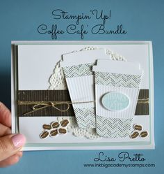 Stampin'Up! Coffee Cafe bundle, stamp set, framelits, happy birthday, technique, tutorial, lisapretto, inkbigacademystamps, DIY, Papercrafting