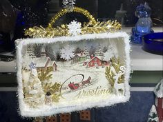 After giving us lots of advent calendar ideas, Natacha comes back to accompany us in our preparation for Christmas. Vintage Christmas Crafts, Christmas Card Crafts, Christmas Projects, Handmade Christmas, Holiday Crafts, Christmas Holidays, Christmas Decorations, Christmas Scenes, Christmas Makes