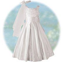 Exquisite Bead Embellished Gown - Girls Communion Dresses, Communion Headpieces & Veils.