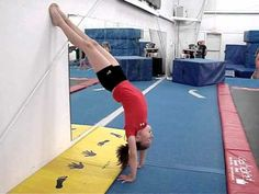 blocking drill for backhandsprings. i dont need this anymore but it may come in handy one day