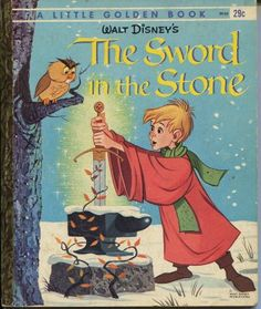 The Sword in the Stone (1963)  By Carl Memling - Little Golden Book