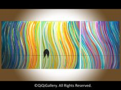 48+Original+Modern+Abstract+Heavy+Texture+Impasto+by+QiQiGallery,+$345.00