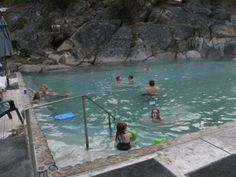 Gold Fork Hot Springs between Cascade and Donnelley, Idaho