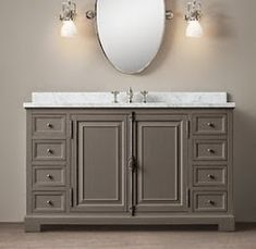 Restoration Hardware   Pottery Barn Vanity DupesRestoration Hardware Kent Vanity   Double vanity sink in white  . Kent Bathroom Vanity Restoration Hardware. Home Design Ideas