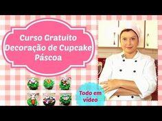 """Curso Gratuito """"Decoração de Cupcake de Pascoa.   Vitrine de Cursos Online"""