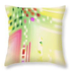 Yellow Throw Pillow featuring the digital art Digital Mind by Ron Labryzz
