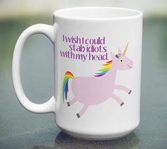 Unicorn Coffee Mug Funny Unicorn Mug Funny by SouthernMadeMugs