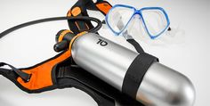 TIO diving system combines the simplicity of snorkeling with the advantages of underwater breathing. It is the best of both worlds. Designed by: Ivo Wawer Spy Equipment, Diving Equipment, Pirelli Tires, Survival Gadgets, Water Toys, Snorkelling, Travel Activities, Camping Gear, Water Sports