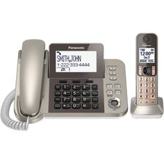 Panasonic Dect 6.0 Corded And Cordless Phone System With Caller Id & Tad (1 Handset)