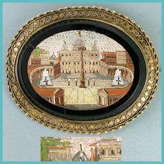 Micro Mosaic Brooch