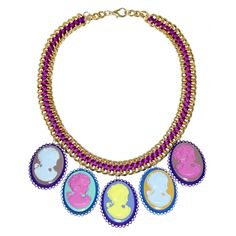 Multi-Acid Cameo Necklace - I Know The Queen
