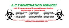 Wanted Professional and certified cleaning services in #Baltimore #Maryland (MD)?? Crime Scene cleaning, death cleaning, bio-hazard clearing, suicide cleaning, blood cleaning, trauma cleaning, hazmat cleaning, hoarding cleaning, tear gas and meth lab cleaning, industrial and constructional waste cleaning Services.  Call A.C.T on their helpline number @ 1-888-477-0015 or 1-888-629-1222 toll free and get big discount on cleaning services.  Professional cleanup @ Affordable price.