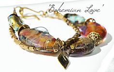'Bohemian Love' .. A substantial designer bracelet full of joy and movement.  Deborah JLambson