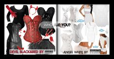 are you angel or devil? Devil, Angel, Red, Outfits, Inspiration, Black, Fashion, Outfit, Biblical Inspiration