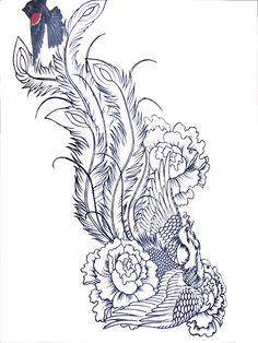 Tattoo Sleeve Stencil | phoenix free tattoos designs for women