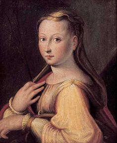 Barbara Longhi (1552–1638) | Saint Catherine of Alexandria, presumed self-portrait of Barbara Longhi, 1589, oil on canvas, 45.7 x 35.6 cm, Pinacoteca Comunale, Ravenna, Italy