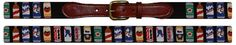 """needle point belt """"beer cans"""""""