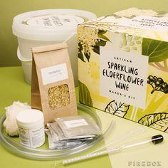 The Artisan Sparkling Elderflower Wine Maker's Kit $50 | Firebox