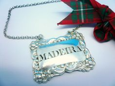 Silver Decanter Label SCOTTISH PROVINCIAL Alex Cameron Dundee c.1820.Madeira.