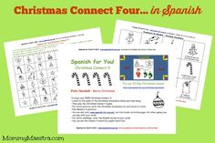 Free Download: Christmas Connect Four in Spanish